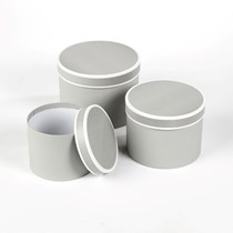 Grey Couture Round Lined Hat Boxes 3pk