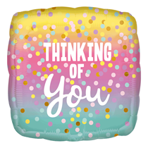 """Thinking Of You Confetti Dots 18"""" Foil Balloon"""