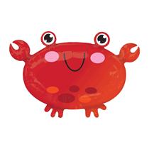 """Cute Crab Standard 22"""" Foil Balloon"""