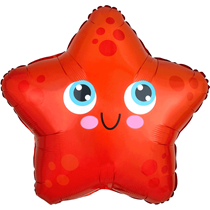 "Cute Starfish 17"" Standard Foil Balloon"