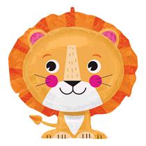"Cute Sitting Lion 24"" Foil SuperShape Balloon"