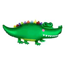"Happy Alligator Crocodile 42"" Foil Balloon"