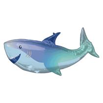 "Smiling Shark 38"" SuperShape Foil Balloon"