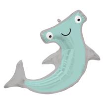 "Smiling Hammerhead Shark 41"" Foil Balloon"