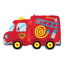"Fire Engine Truck 30"" Foil SuperShape Balloon"