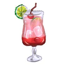 """Gin Fizz Cocktail 37"""" Foil SuperShape Foil Balloon"""