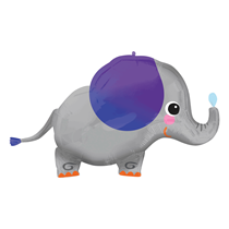 "Smiling Elephant 34"" Foil SuperShape Balloon"