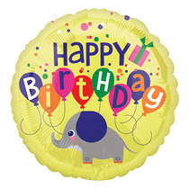 "Elephant Happy Birthday 18"" Foil Balloon"