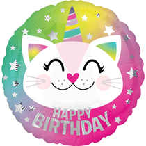 "Caticorn Happy Birthday 18"" Foil Balloon"