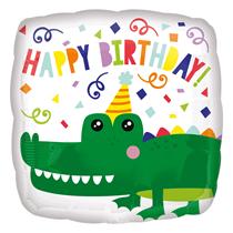 "Happy Birthday Crocodile 18"" Foil Balloon"