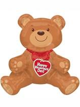 "Valentine's Air Fill Teddy Bear 17"" Foil Balloon"