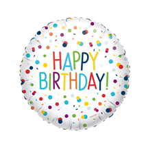 "Confetti Happy Birthday 18"" Foil Balloon"
