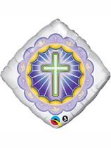 """Illuminated Cross 18"""" Foil Balloon"""