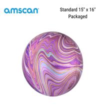"""Purple Marblez Orbz 15"""" Foil Balloon"""