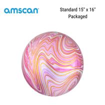 "Pink Marblez Orbz 15"" Foil Balloon"