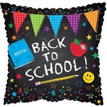 """Back To School Chalkboard 17"""" Foil Balloon (Loose)"""