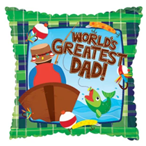 "World's Greatest Dad Fishing 17"" Foil Balloon"