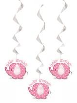 3 Umbrellaphants Pink Hanging Decorations