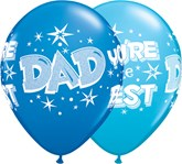 Dad You're The Best Starburst Latex Balloons 25pk
