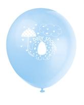 """8 Umbrellaphants Blue 12"""" Latex Balloons"""