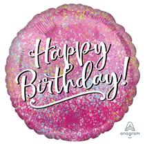 "Happy Birthday Pink & Fabulous 18"" Foil Balloon"