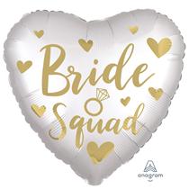"Satin Luxe Bride Squad 18"" Foil Balloon"