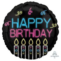 "Neon Happy Birthday 18"" Foil Balloon"