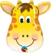 """Jolly Giraffe Mini Shape Foil Balloon 14"""""""
