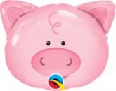 "Playful Pig Mini Shape 14"" Foil Balloon"