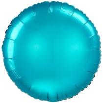 """Satin Luxe Aqua 18"""" Round Foil Balloon"""