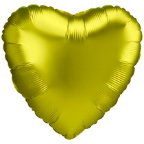 "Satin Luxe Lemon 18"" Heart Shaped Foil Balloon"