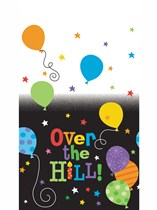 """Over The Hill Rectangular Plastic Tablecover 54""""x 108"""""""