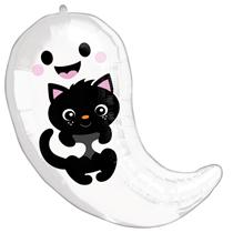 Halloween Ghost & Kitten Standard Foil Balloon