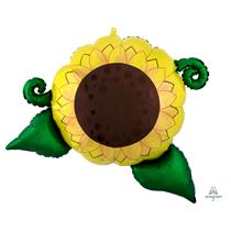 "Sunflower Satin Infused 30"" SuperShape Foil Balloon"