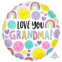 Mother's Day Love You Grandma Foil Balloon