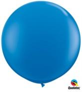 Dark Blue Round 3ft Latex Balloons 2pk