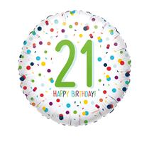 "21st Birthday Confetti 18"" Foil Balloon"