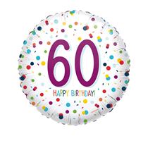 "60th Birthday Confetti 18"" Foil Balloon"