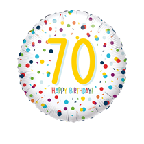 "70th Birthday Confetti 18"" Foil Balloon"