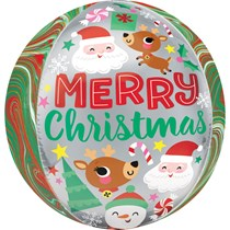 Christmas Adorable Buddies Orbz Foil Balloon