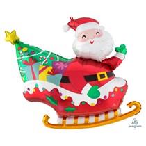 Christmas Santa's Sleigh Supershape Foil Balloon