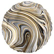 "Marblez Black Round 18"" Foil Balloon"