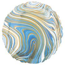 """Marblez Blue Round 18"""" Foil Balloon"""