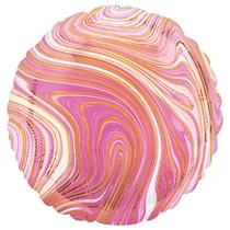 """Marblez Pink Round 18"""" Foil Balloon"""