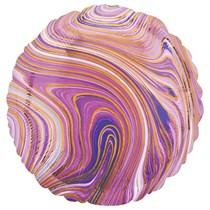 """Marblez Purple Round 18"""" Foil Balloon"""