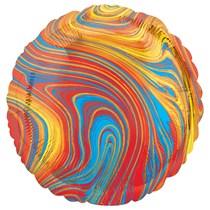 "Marblez Colourful Round 18"" Foil Balloon"