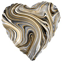 "Marblez Black Heart 18"" Foil Balloon"