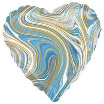 "Marblez Blue Heart 18"" Foil Balloon"