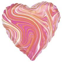 """Marblez Pink Heart 18"""" Foil Balloon"""