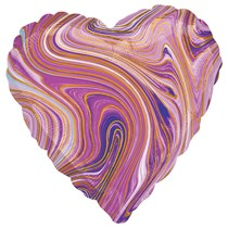 "Marblez Purple Heart 18"" Foil Balloon"